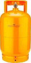 EUROCAMPING 51031004TP Bombola Gas Propano 5 Kg con Rubinetto e Maniglia Alta