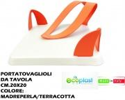 Ecoplast 528433 Portatovaglioli da Tavolo Madreperla Terracotta