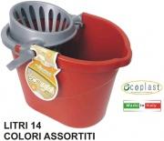 Ecoplast 555551 Secchio Ovale + Strizzamop litri 14 cm 37x25x26h
