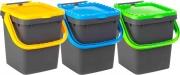 Ecoplast ECP20 Pattumiera Ecoplus con Manigl.lt.20 Col.Assort. Pezzi 3
