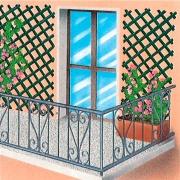 Edilmed TRALICCI-03A Traliccio In Plastica Colore Bianco mt 3x1 Pezzi 5