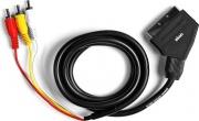Ekon ECVSCAR3RCA15MM Cavo Scart 1,5 mt Rcam + Switch
