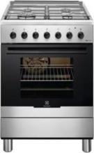 Electrolux KK61380OX Cucina a Gas 4 Fuochi con Forno 60x60 cm colore Inox