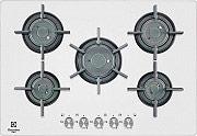 Electrolux PVF 750 UOB Piano Cottura 5 Fuochi Incasso a Gas 75 cm Cristallo Bianco