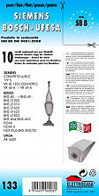 Elettrocasa SB 8 Sacchetti carta per Aspirapolvere Universali 10 sacchi