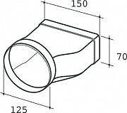 Elica 1052G Giunzione Rettangolare  Rotondo Accessorio per Cappa Elica