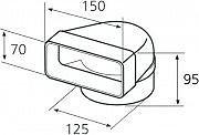 Elica 1052Q Curva Rotonda  Rettangolare Accessorio per Cappa Elica