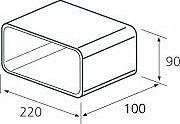 Elica 1053N Giunzione Rettangolare Accessorio per Cappa Elica