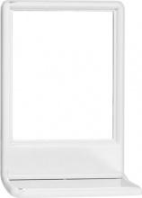 Eliplast 7301 Specchio Bagno con Mensola Rettangolare 43x29 cm Cornice bianca