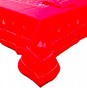 Elite 12321-1R Tovaglia Natalizia 18 posti 180x360 cm + 18 Tovaglioli Rosso