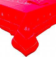 Elite 12321-1R Tovaglia Natalizia 24 posti 180x410 cm + 24 Tovaglioli Rosso
