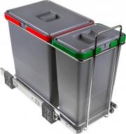 Elletipi PF01 34A1 Pattumiera Estraibile Mobile Cucina 2 Cont. 18+8 Lt -  Ecofil
