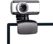 Encore 471190 Webcam 0.3 Mp 640 x 480 Pixel Usb 2.0 Nero Argento