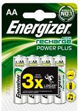 Energizer Confezione 4 batterie Ricaricabili STILO AA 2000 mAh 638622