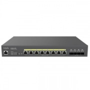 Engenius ECS2512FP Switch Di Rete Gestito L2+ Nero Supporto poe