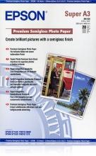 Epson C13S041328 Carta Fotografica A3 Semi Lucida Premium Confezione 20 Fogli