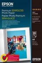 Epson C13S041332 Carta A4 Fotografica Premium Semigloss Photo Paper 250