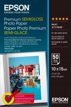 Epson C13S041765 Premium Semi-Gloss Photo Paper 10x15cm 50 Fogli