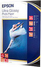 Epson C13S041927 Carta fotografica A4 lucida 300 grmq 15 fogli -  Ultra Glossy