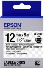 Epson C53S654012 Nastro lk4tbn clear Nerotrasparente12x9