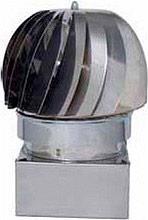 Europrofil Fumaiolo Comignolo Girevole Eolico attacco Quadrato 25x25cm ZN250X250