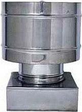Europrofil FUMACC350X350 Fumaiolo Comignolo Antivento attacco Quadrato 35x35 cm