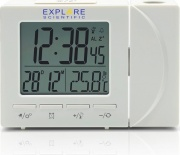Explore Scientific RDP1001WHT Sveglia Digitale Proiezione Ora Display LCD Bianco