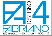 FABRIANO 05201797S Album Disegno F4 4 Angoli Liscio Riquadri 33X48