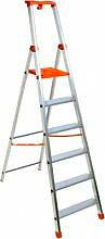 FACAL Scala domestica Alluminio 7 gradini Altezza cm. 219 - PS7