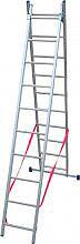 FACAL SL310-2 Scala Alluminio Trasformabile 2 x 11 gradini a Libretto mt. 5,10
