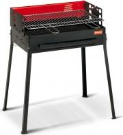 FERRABOLI 128 Barbecue Carbonella BBQ Carbone Portatile 59x38 cm Nero  Comunità