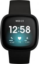 FITBIT VERSA3BLK Smartwatch Orologio Fitness Cardio Bluetooth 5 ATM Nero Versa 3 BLK
