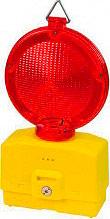 FME 145038 Lampeggiante per cantiere luce rossa crepuscolare luce LED vano batteria