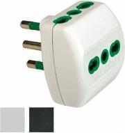 FME 82180 Adattatore Triplo 16A+T Bianco