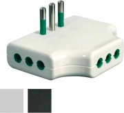 FME 82250 Adattatore Triplo Piatto 10A+T Bianco