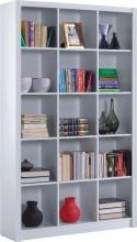 FORES HABITAT 005493BO Libreria Scaffale legno 15 vani 114x30x195 h cm Bianco