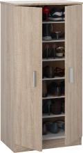 FORES HABITAT 007813F Scarpiera legno 2 Ante  6 Ripiani 55x36x108h cm Rovere