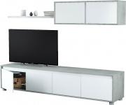 FORES HABITAT 016663L Parete attrezzata Moderna Legno Mobile TV 200x41x43h
