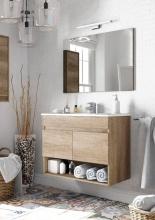 FORES HABITAT 305110H Mobile sotto lavabo bagno MDFPVC 80x45x80h cm + Specchio