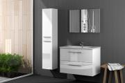 FORES HABITAT 305161BO Mobile sotto lavabo bagno legno 80x45x57hcm + Specchio WH