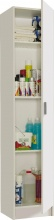 FORES HABITAT 71410 Mobile Multiuso legno Armadio 1 Anta 37x37x180h cm Bianco