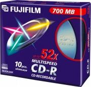FUJIFILM 16306 Confezione 10 PZ CD-R 700 Mb CD-R 700MB 52X slimcase 10-pack 47444