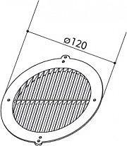 Faber 112.0157.303 Griglia cappa direzionale esterna circolare GRIGLIA GDC 125