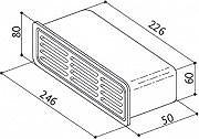 Faber 112.0157.304 Griglia Accessorio cappa rettangolare esterna GRIGLIA GRE