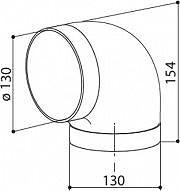 Faber 112.0157.307 Curva circolare 90 Accessorio per cappa D 13 cm Curva CC 90