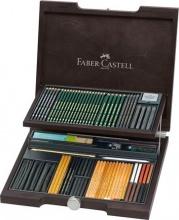 Faber Castell 112971 Valigetta In Legno Pitt
