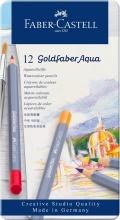 Faber Castell 114612 Confezione 12 Matite Aqua Ast Met. Colori Assortiti