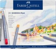 Faber Castell 114624 Confezione 24 Matite Aqua Ast Met. Colori Assortiti