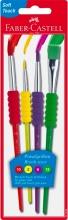 Faber Castell 481600 Confezione 4 Pennelli Soft (Mis 2 6 10 12)