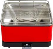 Feuerdesign 14031_RED Barbecue carbonella Barbecue da tavolo senza fumo 34x34 cm Teide_RED